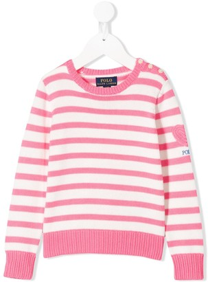 Ralph Lauren Kids Knitted Striped Jumper
