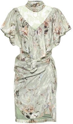 Preen by Thornton Bregazzi Bee silk-blend lame minidress