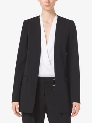 Michael Kors Wool-Gabardine Jacket