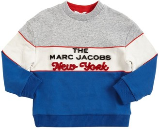 Little Marc Jacobs Flocked Logo Cotton Sweatshirt