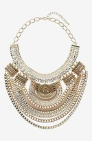 Topshop Mixed Chain Collar Necklace