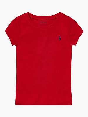 Ralph Lauren Polo Girls' T-Shirt, Red