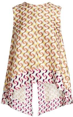 Olivia Palermo Dandelion Open-Back Silk Top