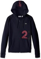 "Lacoste Men's Tennis Lifestylelifestyle ""27"" Hoodie Colorblock Fleece"