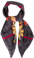 Burberry Floral Silk Scarf w/ Tags
