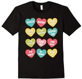 Conversation Heart Valentines Day Candy tShirt For Kids