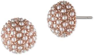 lonna & lilly Faux Pearl Button Stud Earrings