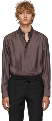 Brioni Purple Silk Regular Shirt