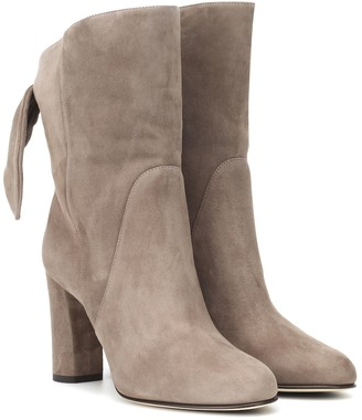 Jimmy Choo Malene 85 suede ankle boots