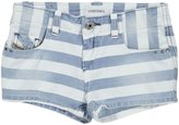 Diesel 'Prira' Stripe Denim Shorts (Kids) - Indigo-16 Years