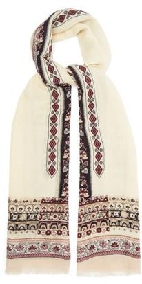Etro Floral-print Wool-twill Scarf - Multi
