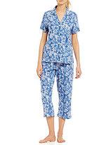 Lauren Ralph Lauren Bandanna Jersey Capri Pajamas