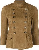 Desa Collection - cropped blazer - women - Suede - 38