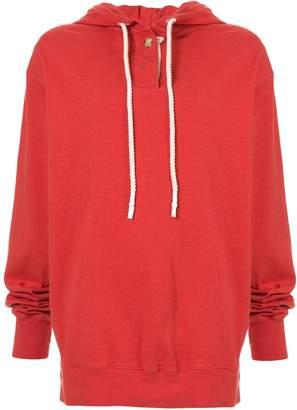 Bassike double jersey hoodie