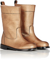 Lanvin ROUNDED-TOE BOOTS-GOLD SIZE 12/ 12.5