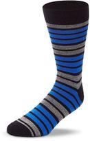 Black Brown 1826 Wool Blend Striped Socks