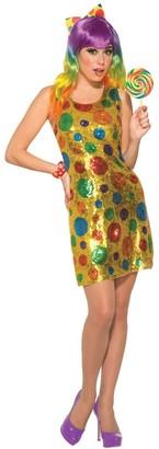 Forum Women's Sequin Clown Dress