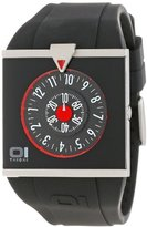 01 The One 01TheOne Unisex AN04G03 Analog Square Black and Red Fashion Watch