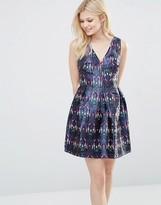Glamorous Printed Skater Dress