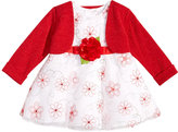 Sweet Heart Rose 2-Pc. Shrug & Embroidered-Floral Dress, Baby Girls (0-24 months)