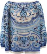 Naeem Khan Embroidered Blouse