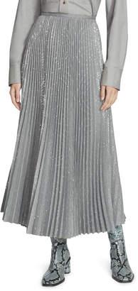 Lafayette 148 New York Jahira Prosperous Pleated Sequin Midi Skirt