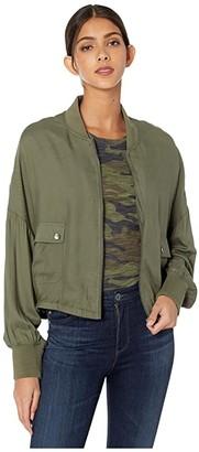 BB Dakota Rayon Twill Bomber Jacket (Sage) Women's Jacket