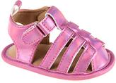Laura Ashley Pink Metallic Weave Strap Sandal