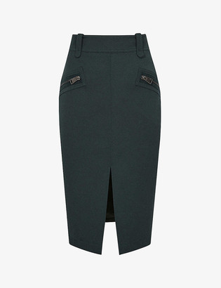 Reiss Kassidy wool-blend midi skirt