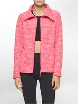 Calvin Klein Performance Heathered Polar Fleece Jacket