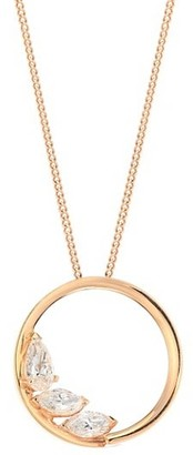 Repossi Large 18K Rose Gold & Diamond Pendant Necklace