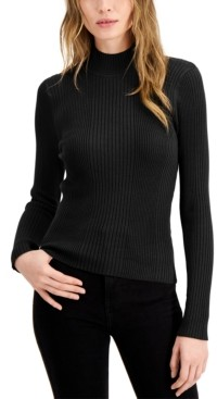 Hooked Up by IOT Juniors' Ribbed Mockneck Sweater