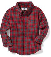 Old Navy Plaid Pocket Shirt for Toddler