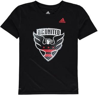 adidas Youth Black D.C. United Tiled climalite T-Shirt