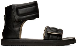 Maison Margiela Black Leather Future Sandals