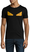 Fendi Embellished Monster Eyes Crewneck T-Shirt