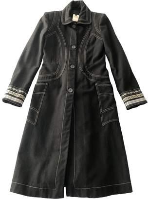 Just Cavalli Black Cotton Coat for Women