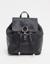 Asos Design DESIGN backpack with hammered ring detail