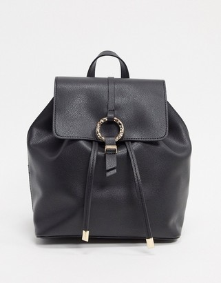 ASOS DESIGN backpack with hammered ring detail