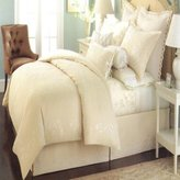 Martha Stewart Trousseau Chinoserie Queen Duvet Tan/White