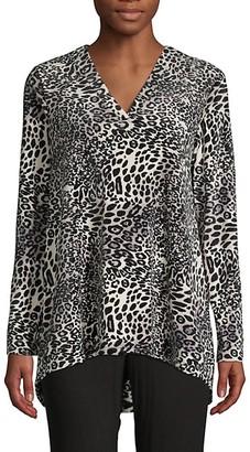 Natori Leopard-Print Long-Sleeve Top