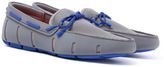 Swims Grey & Blue Braided Lace Loafers