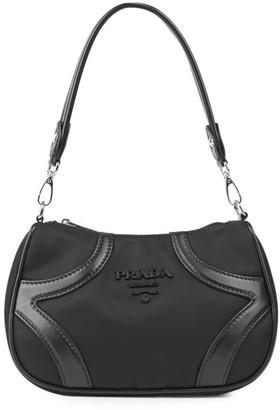 Prada Tessuto Bowling Shoulder Bag