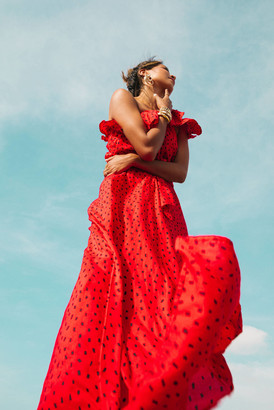 Billabong x Sincerely Jules Your Side Maxi Dress Red M