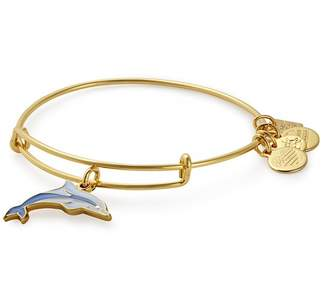 Alex and Ani Charity by Design: Dolphin Charm Expandable Wire Bracelet
