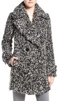 Diane von Furstenberg Double Breasted Bouclé Loop Peacoat
