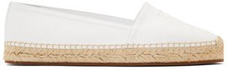 Burberry White Leather Tabitha Espadrilles