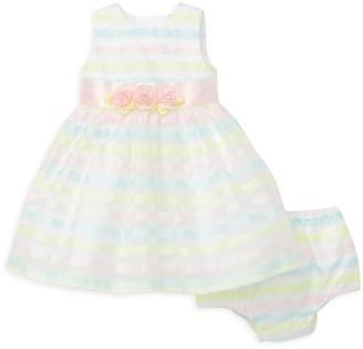 Little Me Baby Girl's 2-Piece Multi-Stripe Dress & Bloomers Set