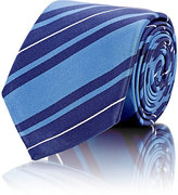 Barneys New York MEN'S STRIPED NECKTIE-BLUE