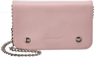 Longchamp Le Foulonne Leather Wallet On Chain